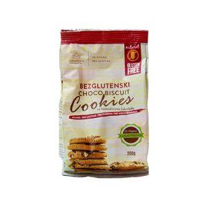 Bezglutenski Choco Biscuit Cookies sa Komadićima Čokolade 200g, bez glutena, Aleksandrija