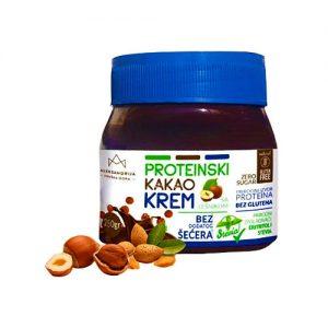 Proteinski kakao krem sa lešnikom bez šećera, bez glutena, Aleksandrija 250g