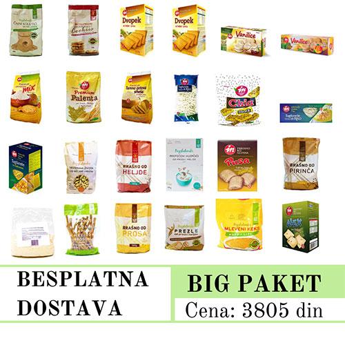 Big Promo Paket, bez glutena, Aleksandrija Fruška Gora