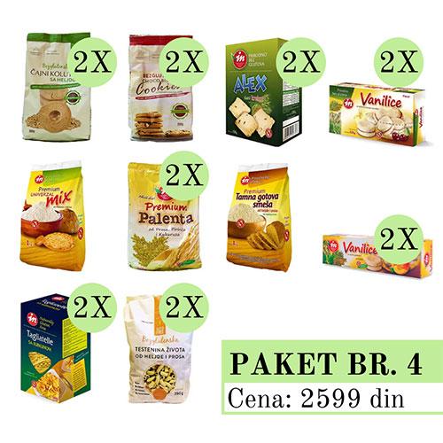 Promo Paket 4, bez glutena, Aleksandrija Fruška Gora